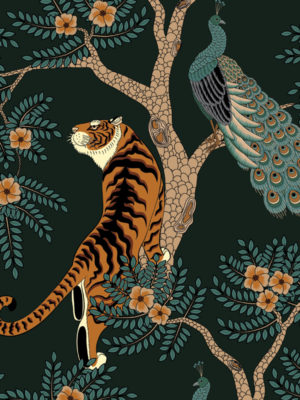 Hello Sticky - Shop - Peel &Amp; Stick Removable Wallpaper - Urban Jungle Wallpaper - Nice Kitty - Zoomed In View