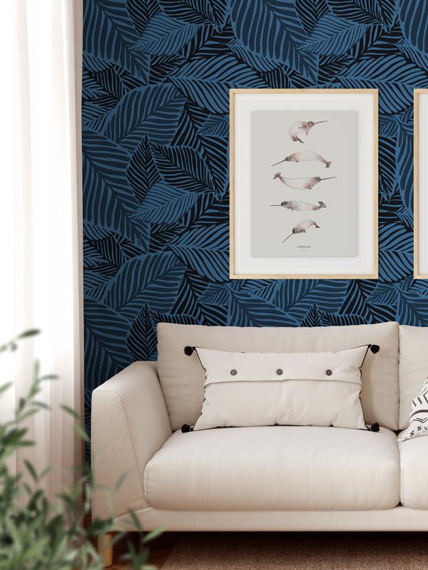 Hello Sticky - Shop - Peel &Amp;Amp; Stick Removable Wallpaper - Urban Jungle Wallpaper - Peacock Paradise - Main View