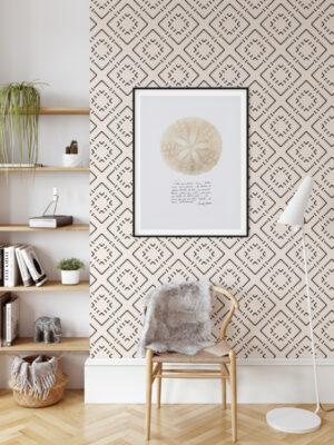 Hello Sticky - Shop - Peel & Stick Removable Wallpaper - Modern Farmhouse Wallpaper - Basic Basket Weave - Main View