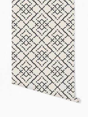 Hello Sticky - Shop - Peel &Amp; Stick Removable Wallpaper - Modern Farmhouse Wallpaper - Diamond Weave - Roll 1 View
