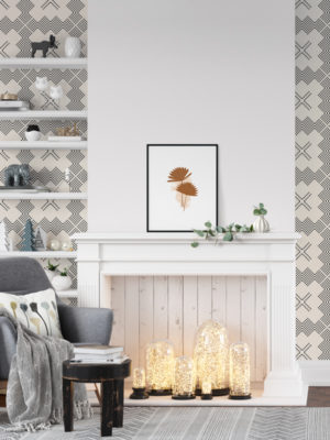 Hello Sticky - Shop - Peel & Stick Removable Wallpaper - Modern Farmhouse Wallpaper - Hatched - Main View