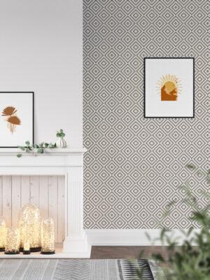 Hello Sticky - Shop - Peel & Stick Removable Wallpaper - Modern Farmhouse Wallpaper - Mini Basket Weave - Main View