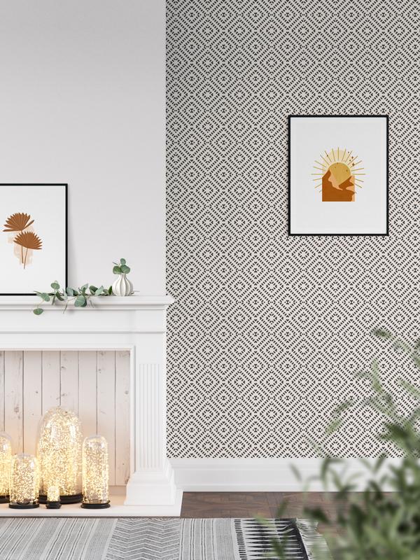 Hello Sticky - Shop - Peel &Amp;Amp; Stick Removable Wallpaper - Modern Farmhouse Wallpaper - Mini Basket Weave - Main View