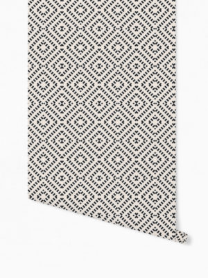 Hello Sticky - Shop - Peel &Amp; Stick Removable Wallpaper - Modern Farmhouse Wallpaper - Mini Basket Weave - Roll 1 View