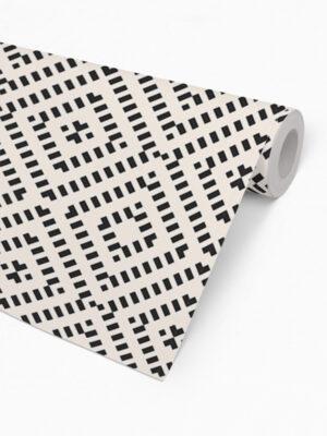 Hello Sticky - Shop - Peel &Amp; Stick Removable Wallpaper - Modern Farmhouse Wallpaper - Mini Basket Weave - Roll 2 View