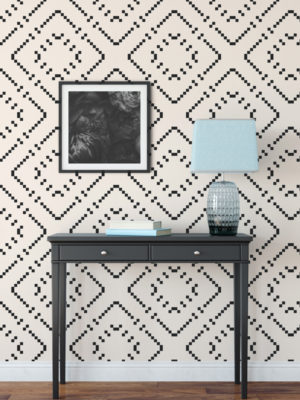 Hello Sticky - Shop - Peel & Stick Removable Wallpaper - Modern Farmhouse Wallpaper - Oversized Basket Weave - Main View