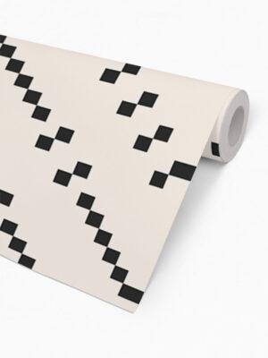 Hello Sticky - Shop - Peel &Amp; Stick Removable Wallpaper - Modern Farmhouse Wallpaper - Oversized Basket Weave - Roll 2 View