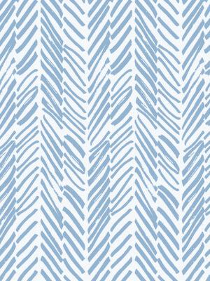 Hello Sticky - Shop - Peel &Amp; Stick Removable Wallpaper - Stripe, Spot &Amp; Dot Wallpaper - Blue Herringbone - Zoomed In View