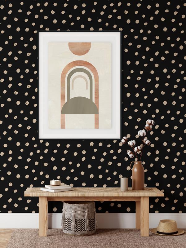 Hello Sticky - Shop - Peel &Amp;Amp; Stick Removable Wallpaper - Stripe, Spot &Amp;Amp; Dot Wallpaper - Daring Dots - Main View