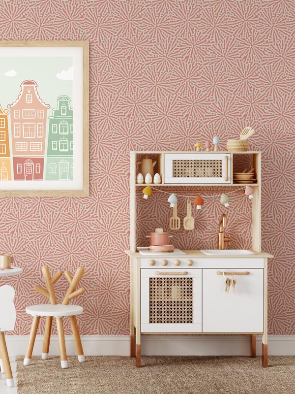Hello Sticky - Shop - Peel &Amp;Amp; Stick Removable Wallpaper - Stripe, Spot &Amp;Amp; Dot Wallpaper - Floral Splatter - Main View