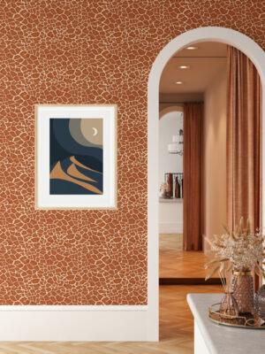 Hello Sticky - Shop - Peel & Stick Removable Wallpaper - Stripe, Spot & Dot Wallpaper - Giraffe - Main View
