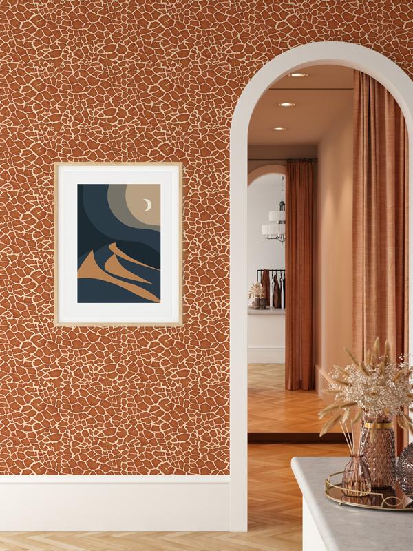 Hello Sticky - Shop - Peel &Amp;Amp; Stick Removable Wallpaper - Stripe, Spot &Amp;Amp; Dot Wallpaper - Giraffe - Main View