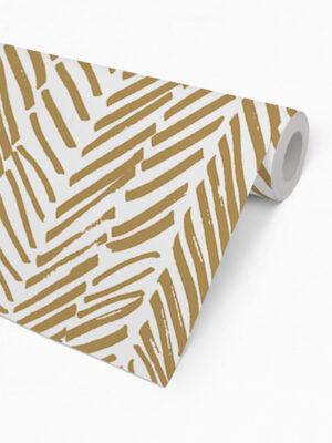 Hello Sticky - Shop - Peel &Amp; Stick Removable Wallpaper - Stripe, Spot &Amp; Dot Wallpaper - Gold Herringbone - Roll 2 View