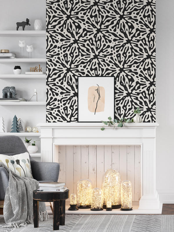 Hello Sticky - Shop - Peel &Amp;Amp; Stick Removable Wallpaper - Stripe, Spot &Amp;Amp; Dot Wallpaper - Ink Splat - Main View
