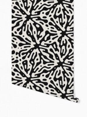 Hello Sticky - Shop - Peel &Amp; Stick Removable Wallpaper - Stripe, Spot &Amp; Dot Wallpaper - Ink Splat - Roll 1 View