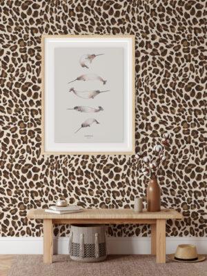 Hello Sticky - Shop - Peel & Stick Removable Wallpaper - Stripe, Spot & Dot Wallpaper - Leopard - Main View