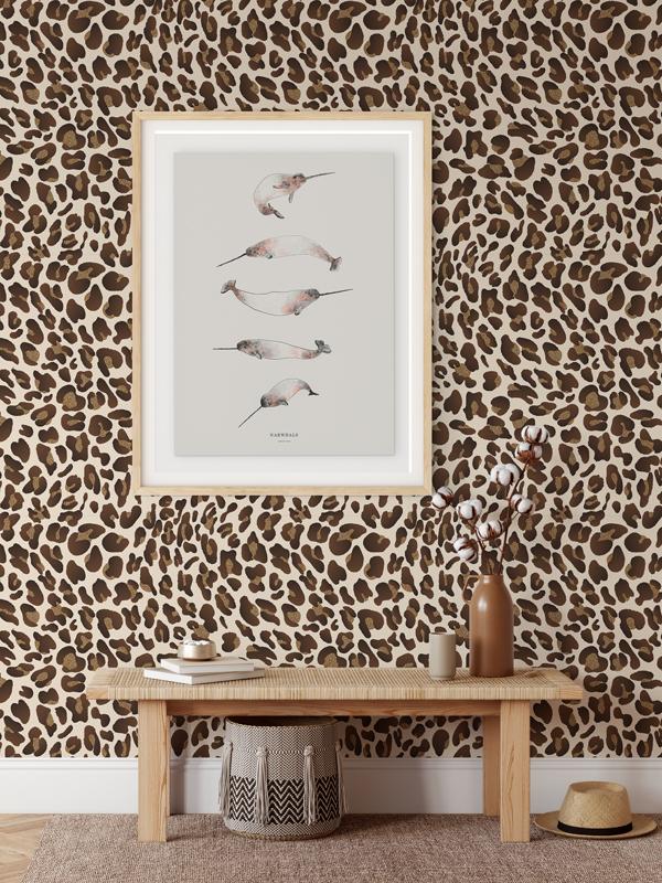 Hello Sticky - Shop - Peel &Amp;Amp; Stick Removable Wallpaper - Stripe, Spot &Amp;Amp; Dot Wallpaper - Leopard - Main View