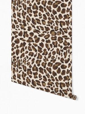 Hello Sticky - Shop - Peel &Amp; Stick Removable Wallpaper - Stripe, Spot &Amp; Dot Wallpaper - Leopard - Roll 1 View