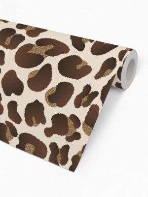 Hello Sticky - Shop - Peel &Amp; Stick Removable Wallpaper - Stripe, Spot &Amp; Dot Wallpaper - Leopard - Roll 2 View