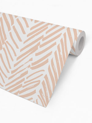Hello Sticky - Shop - Peel &Amp; Stick Removable Wallpaper - Stripe, Spot &Amp; Dot Wallpaper - Peach Herringbone - Roll 2 View