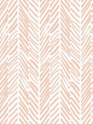 Hello Sticky - Shop - Peel &Amp; Stick Removable Wallpaper - Stripe, Spot &Amp; Dot Wallpaper - Peach Herringbone - Zoomed In View