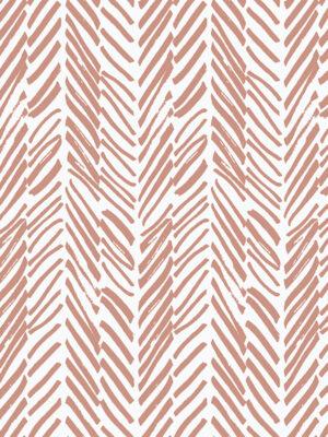 Hello Sticky - Shop - Peel &Amp; Stick Removable Wallpaper - Stripe, Spot &Amp; Dot Wallpaper - Pink Terracotta Herringbone - Zoomed In View