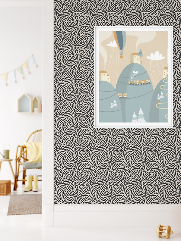 Hello Sticky - Shop - Peel &Amp;Amp; Stick Removable Wallpaper - Stripe, Spot &Amp;Amp; Dot Wallpaper - Splatter - Main View