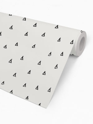 Hello Sticky - Shop - Peel &Amp; Stick Removable Wallpaper - Stripe, Spot &Amp; Dot Wallpaper - Tiny Triangles - Roll 2 View