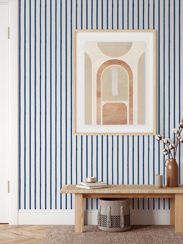 Hello Sticky - Shop - Peel &Amp;Amp; Stick Removable Wallpaper - Stripe, Spot &Amp;Amp; Dot Wallpaper - Vertical Stripes - Main View