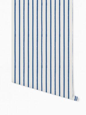 Hello Sticky - Shop - Peel &Amp; Stick Removable Wallpaper - Stripe, Spot &Amp; Dot Wallpaper - Vertical Stripes - Roll 1 View