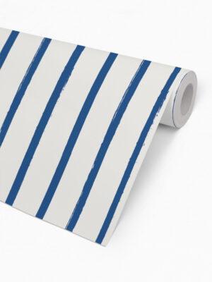 Hello Sticky - Shop - Peel &Amp; Stick Removable Wallpaper - Stripe, Spot &Amp; Dot Wallpaper - Vertical Stripes - Roll 2 View