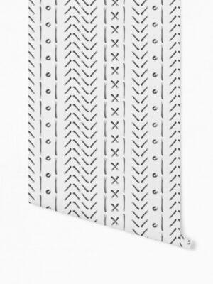 Hello Sticky - Shop - Peel &Amp; Stick Removable Wallpaper - Stripe, Spot &Amp; Dot Wallpaper - X'S &Amp; O'S - Roll 1 View