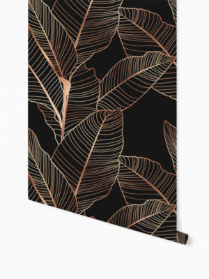 Hello Sticky - Shop - Peel &Amp; Stick Removable Wallpaper - Urban Jungle Wallpaper - Gold Palm - Roll 1 View