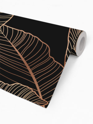Hello Sticky - Shop - Peel &Amp; Stick Removable Wallpaper - Urban Jungle Wallpaper - Gold Palm - Roll 2 View