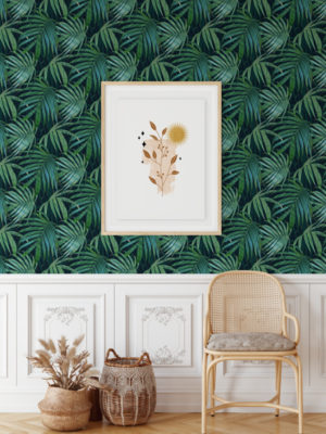 Hello Sticky - Shop - Peel & Stick Removable Wallpaper - Urban Jungle Wallpaper - Whispering Palms - Main View