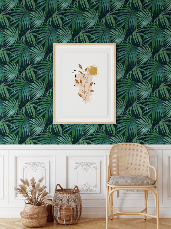 Hello Sticky - Shop - Peel &Amp;Amp; Stick Removable Wallpaper - Urban Jungle Wallpaper - Whispering Palms - Main View