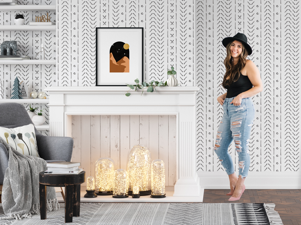 Hello Sticky - Home - Peel &Amp; Stick Removable Wallpaper - Slider 1 - Living Room View